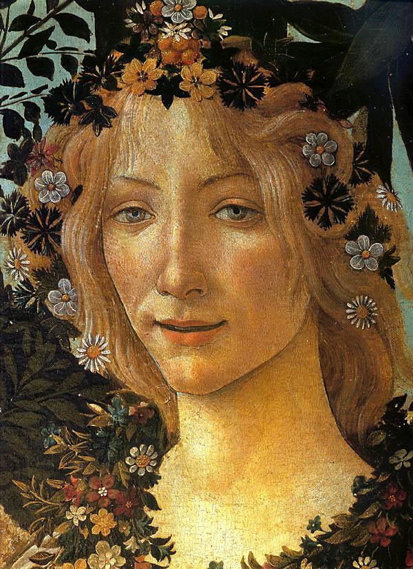 Detalle de la Primavera de Sandro Botticelli