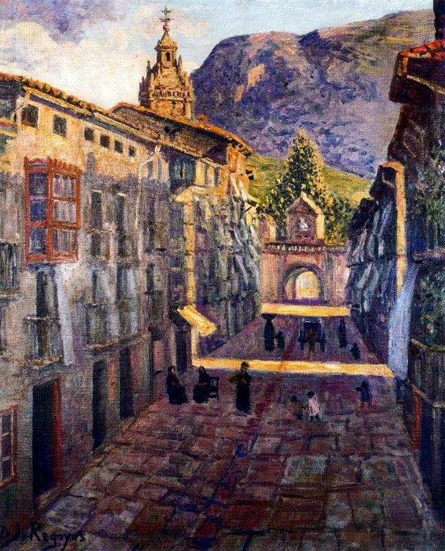 Calle de Durango, por Regoyos