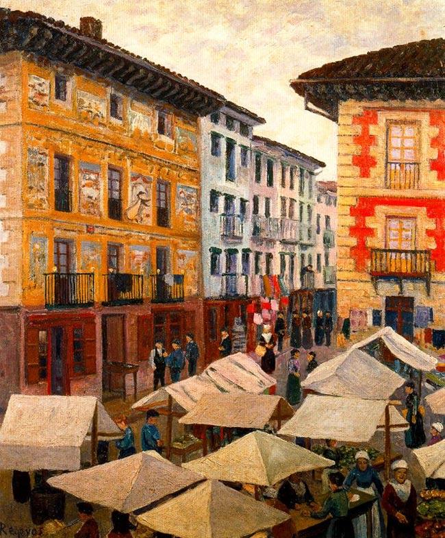Mercado de Villafranca de Oria, Regoyos