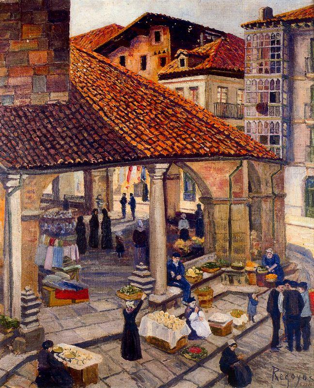 Mercado de Durango, por Regoyos