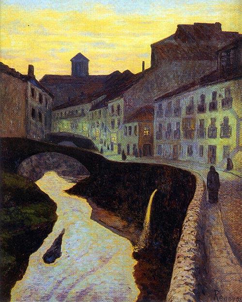 Rio Darro de Granada, por Regoyos