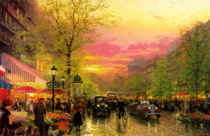 Thomas Kinkade Paris
