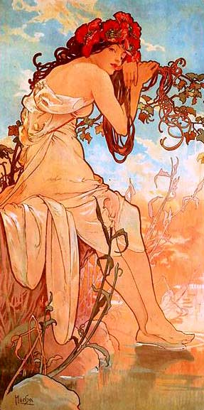 Verano de Alfons Mucha