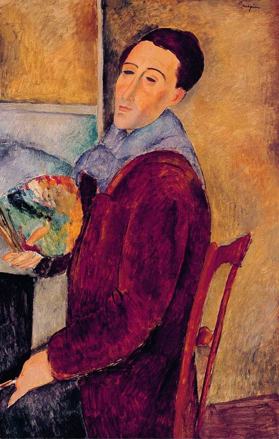 Self-portrait of the painter Modigliani