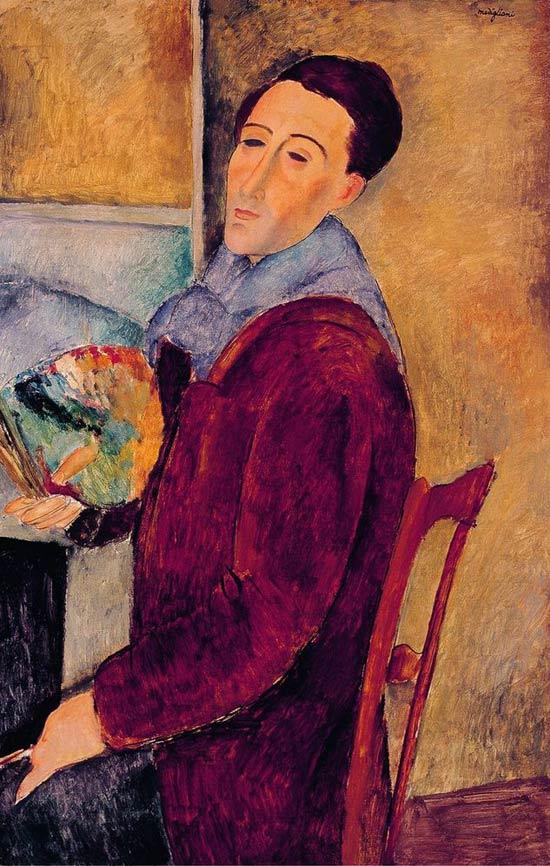 Autorretrato del pintor Modigliani