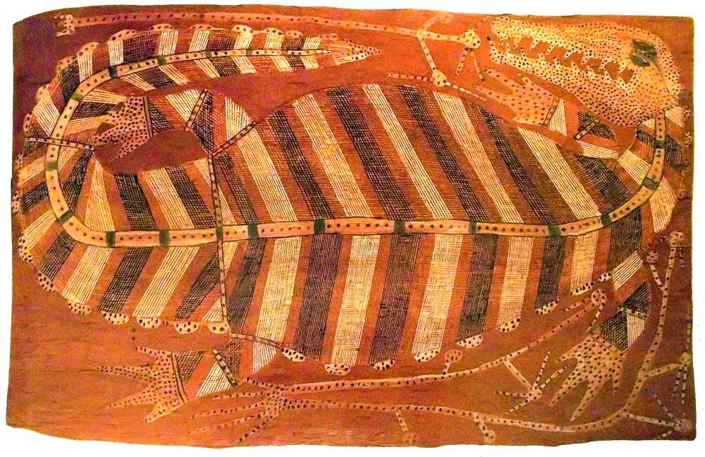 Cocodrilo - arte aborigen australiano