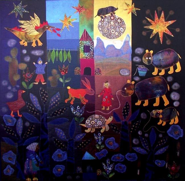 Diseño de un cuadro, creado con patchwork