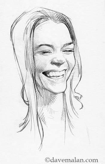 Mujer riendose, de David Malan