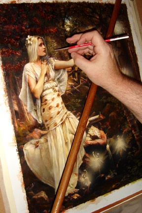 Howard David Johnson pintando