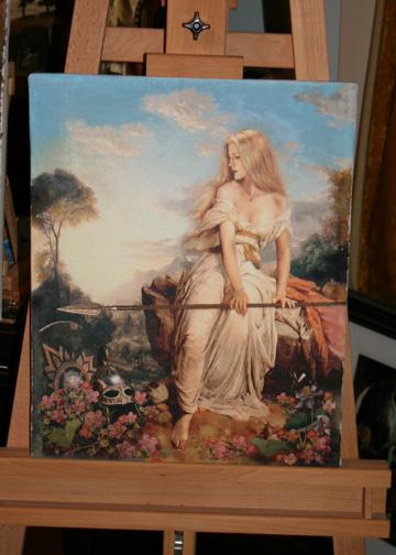 Ejemplo de formato de cuadro pintado por Howard David Johnson