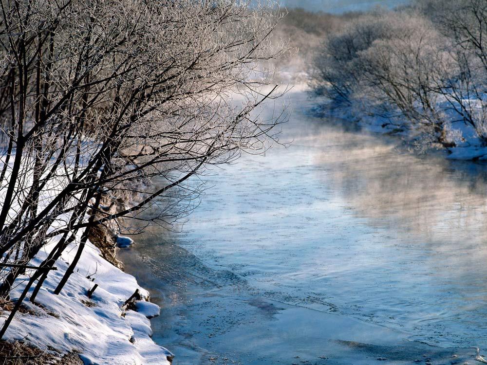 El río en invierno