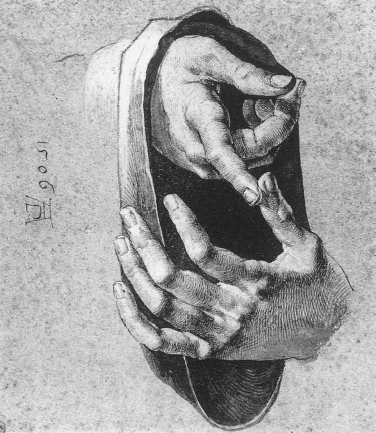 Dibujo de unas manos de Durero
