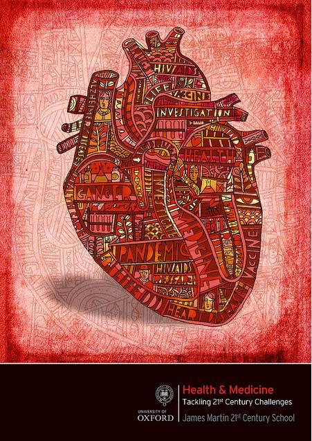Ilustración de un corazón, por John French