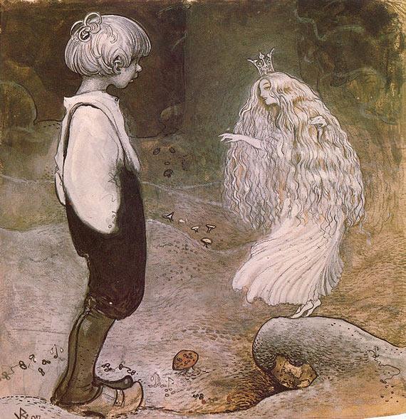 Pintura de un hada de John Bauer.