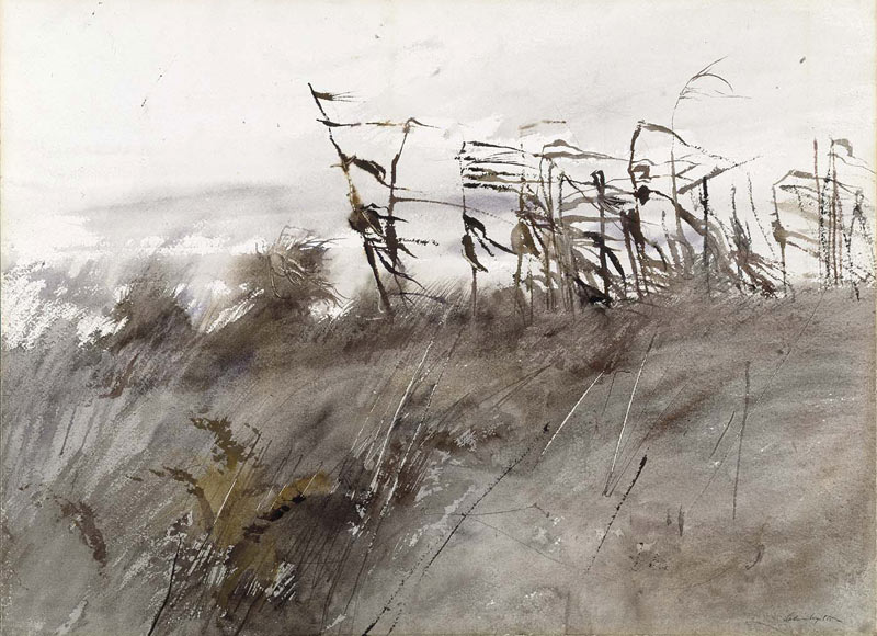 Watercolor by Andrew Wyeth