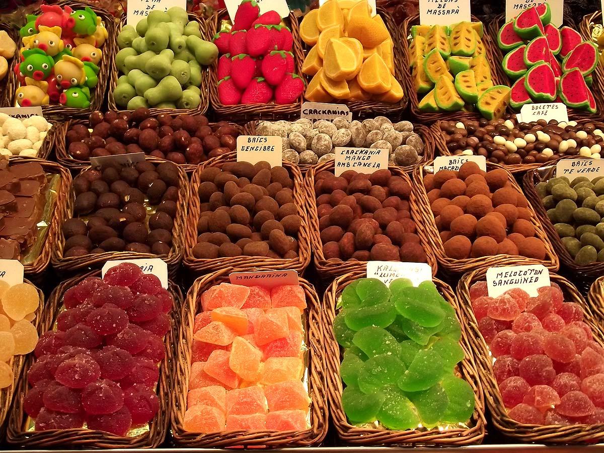Fotos gratis - Dulces en el mercado de la Boqueria