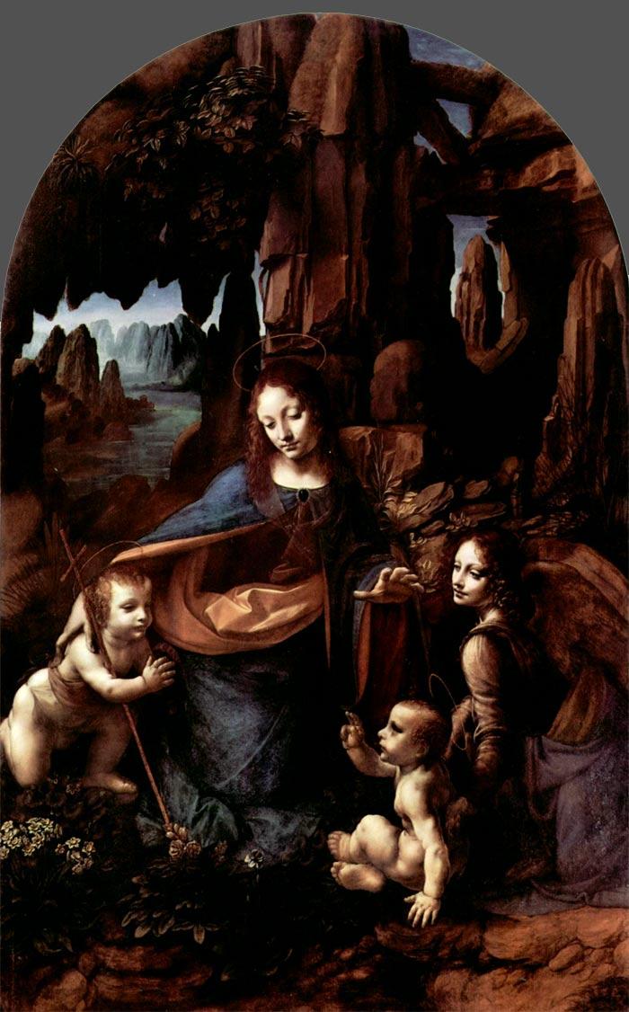 Virgen de las rocas de Leonardo