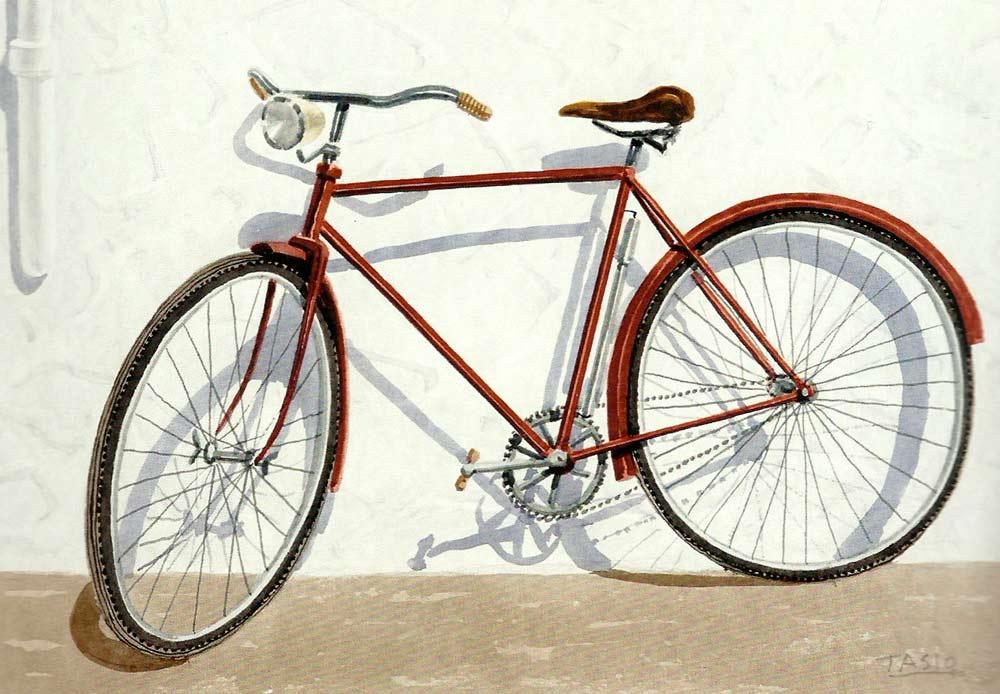 Bicicleta, acuarela de Tasio