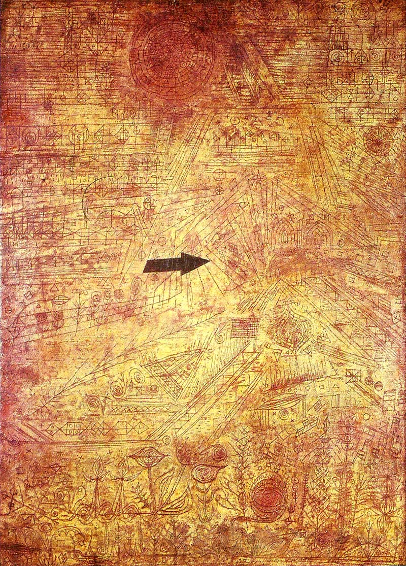 Flecha en un jardín, por Paul Klee