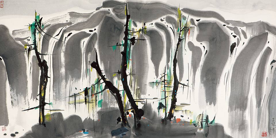 Cataratas, pintura de Wu Guanzhong