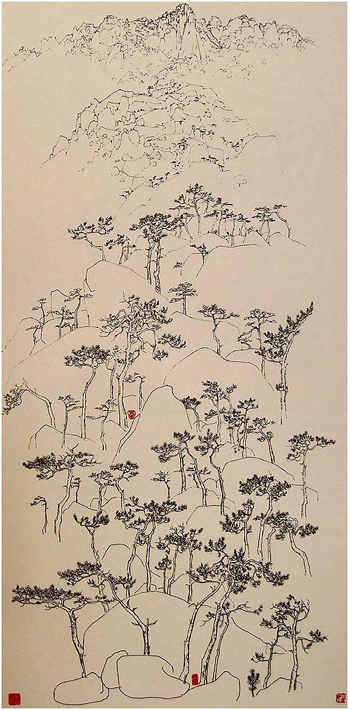 Dibujo de Wu Guanzhong
