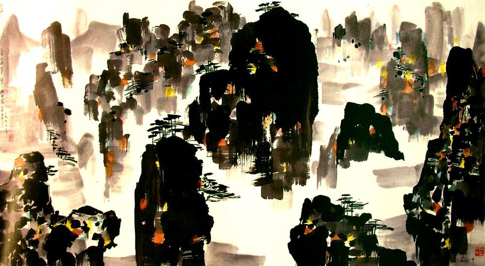 Tchang-Kia-Kiai, pintura de Wu Guanzhong