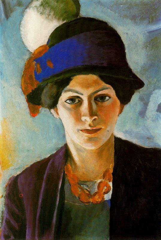 Pintura  - Mujer con sombrero