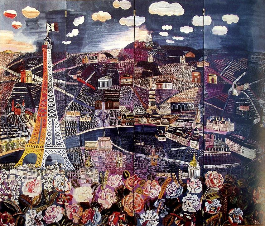 Tapicería con Vista de París, de Raoul Dufy