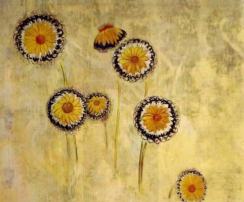 Flores Margaritas de Odilon Redon