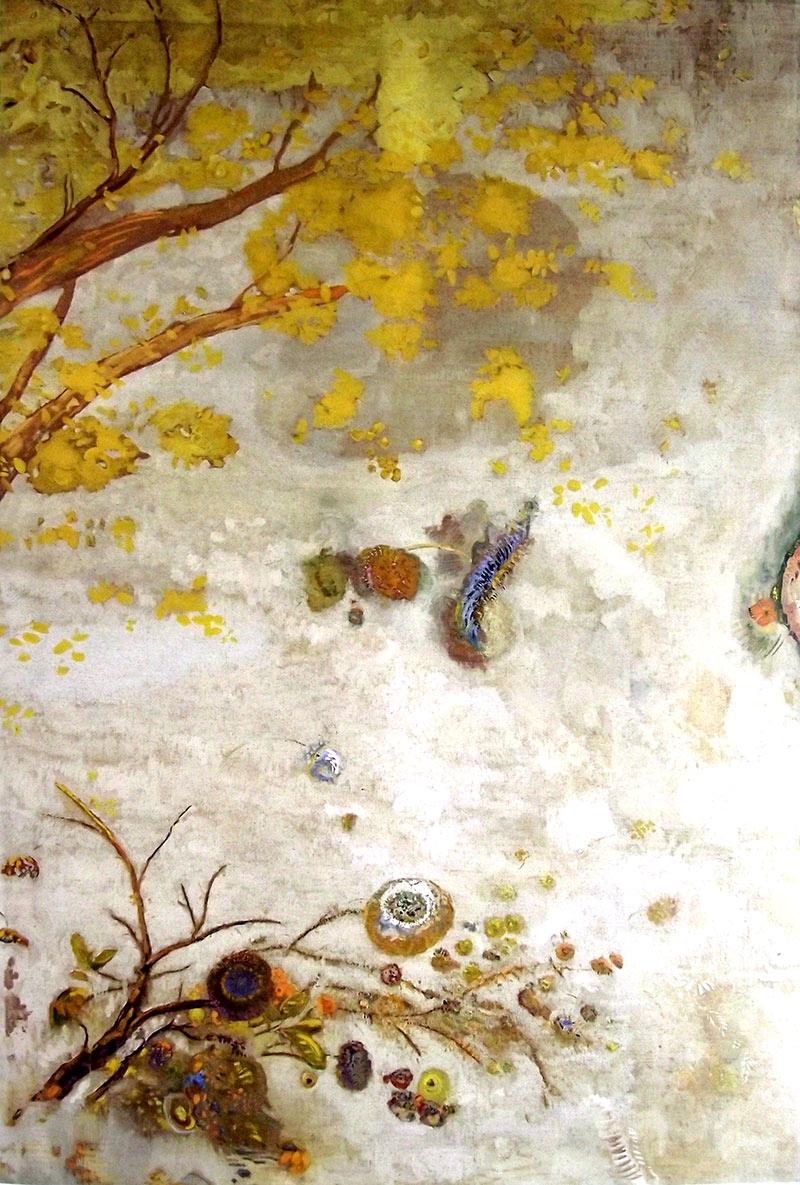La rama florecida amarilla, Odilon Redon