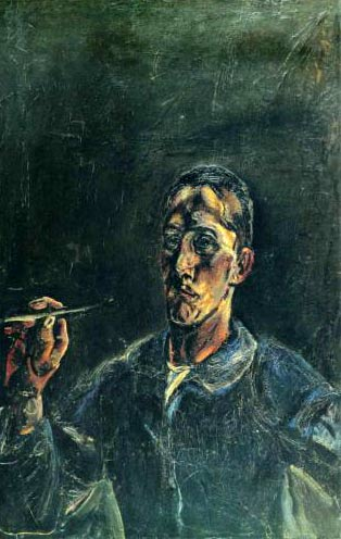 Self-portrait of the painter Oskar Kokoschka