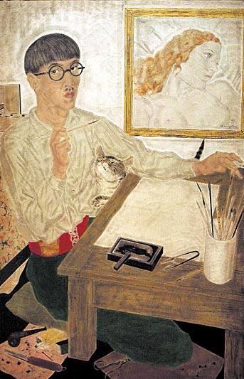 Autorretrato del pintor Tsuguharu Foujita