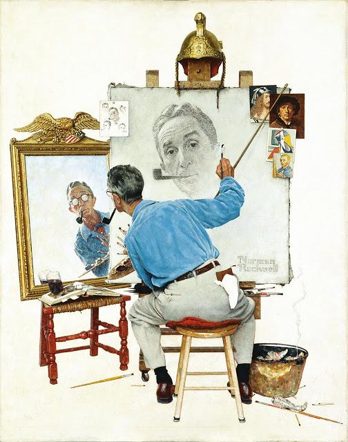 Autorretrato del pintor Norman Rockwell