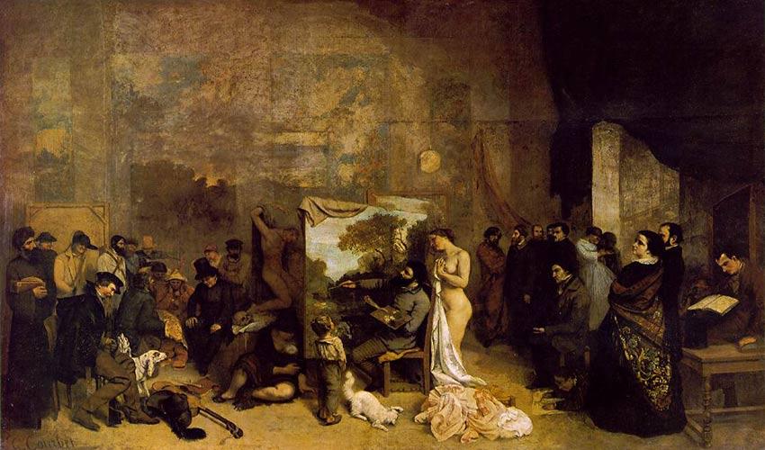 Autorretrato del pintor Gustave Courbet