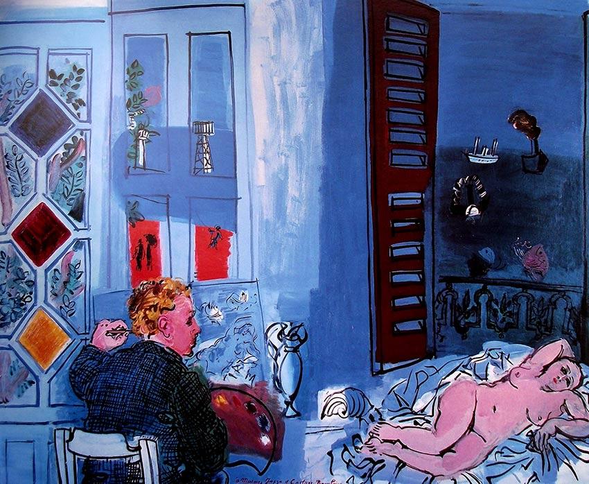 Autorretrato del pintor Raoul Dufy