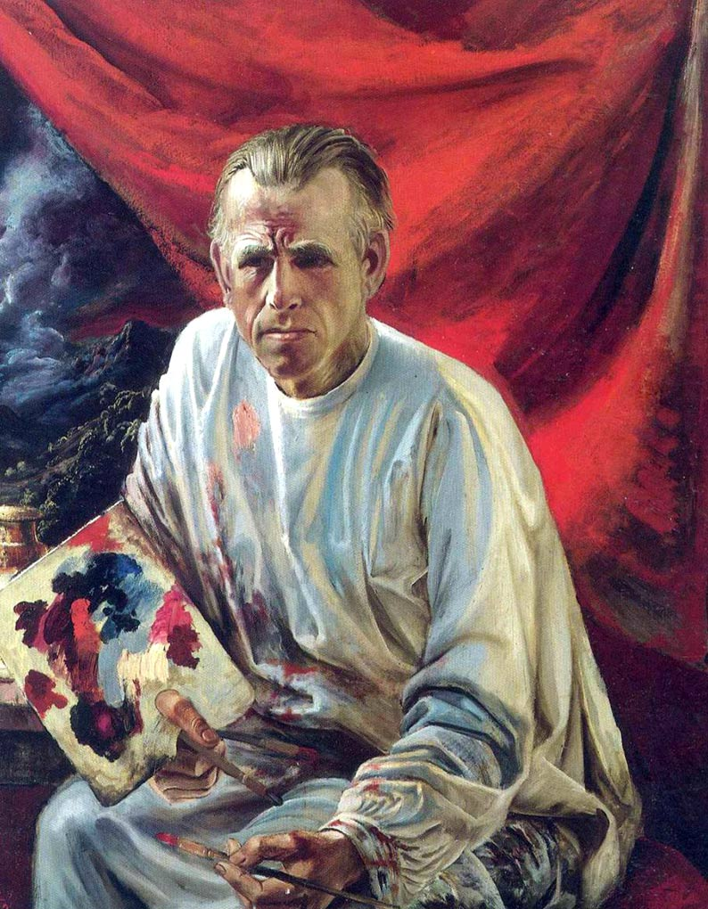 Self-portrait of the painter Otto Dix