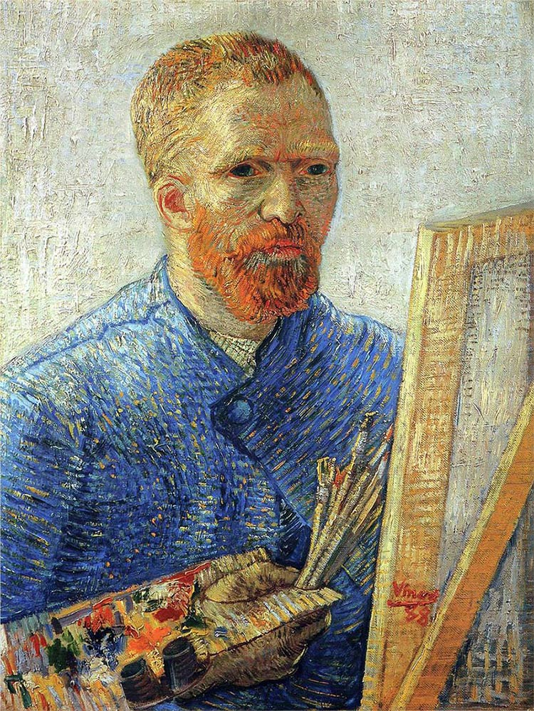 Self-portrait of the painter Vincent Van Gogh.