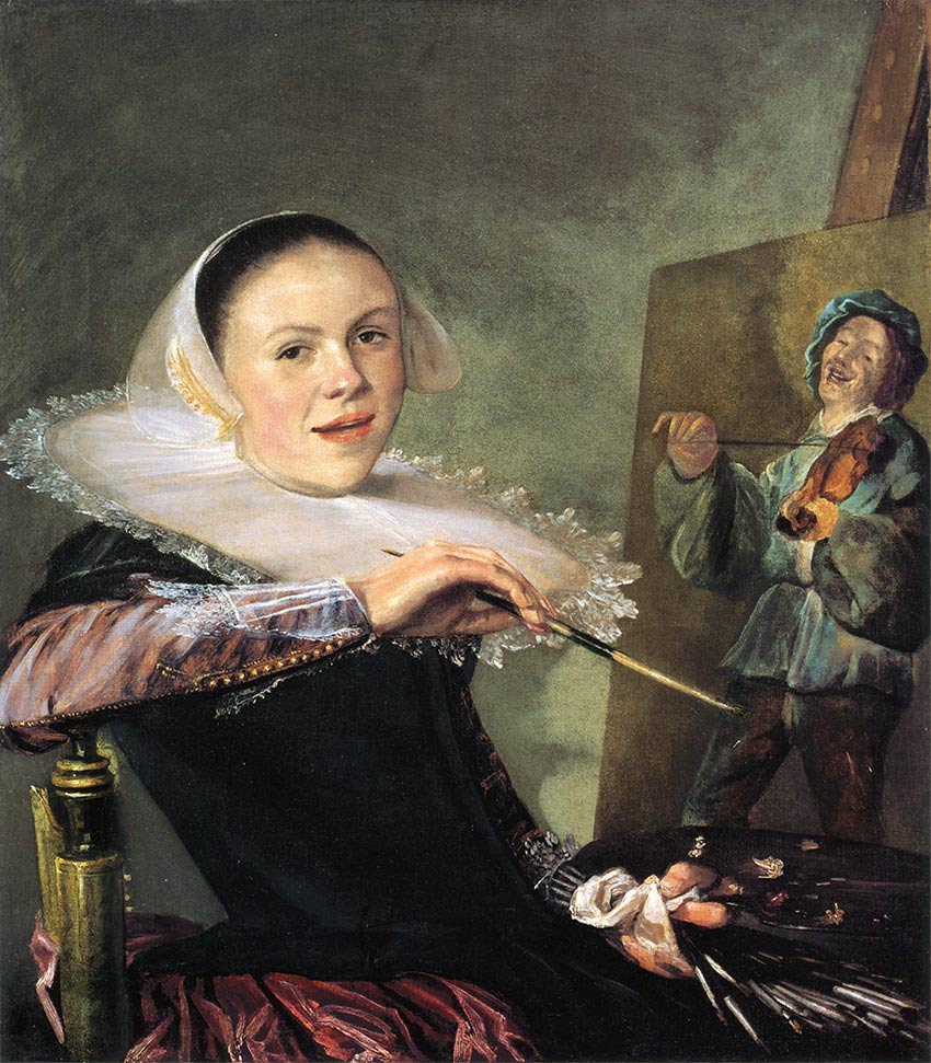 Self-portrait of the painter Judith Leyster