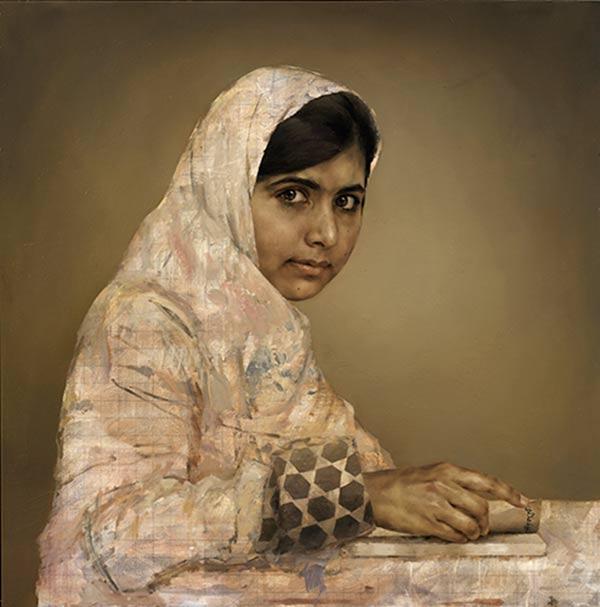 Jonathan Yeo - Retrato de  Malala Yousafsai