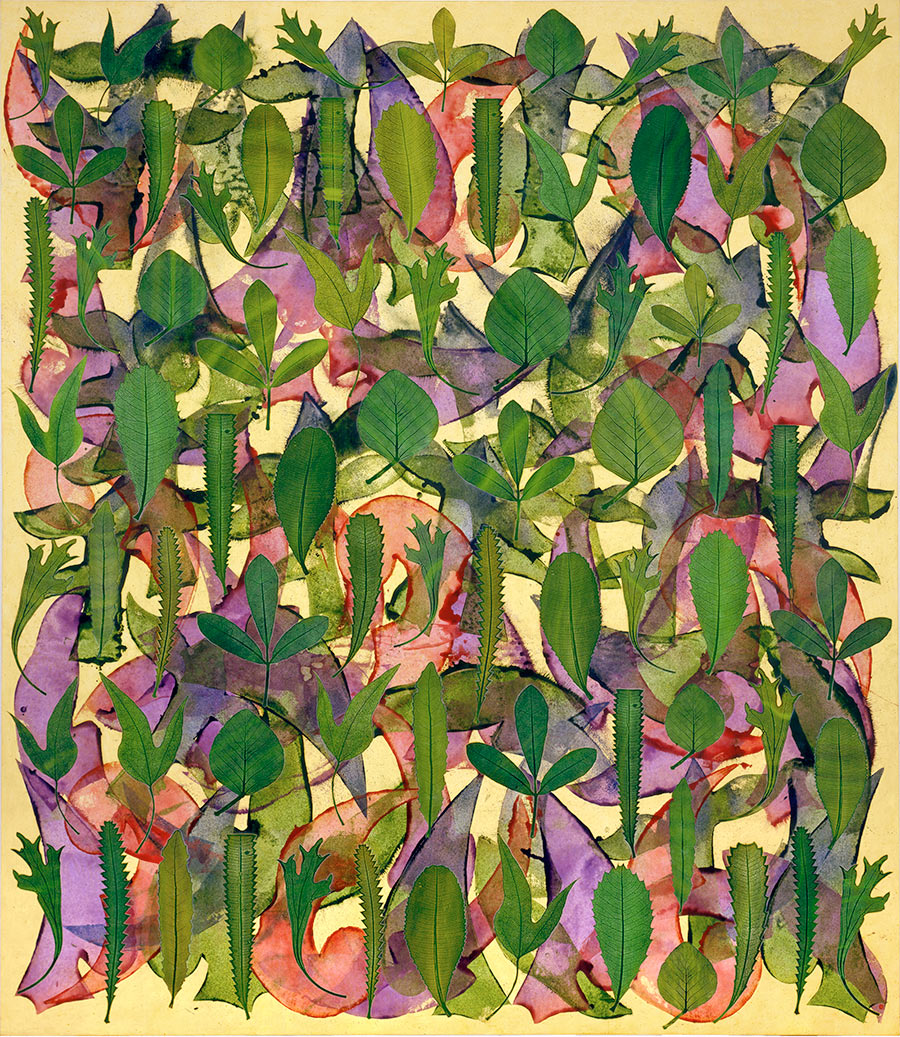 Garden of Extinct Leaves de Philip Taaffe