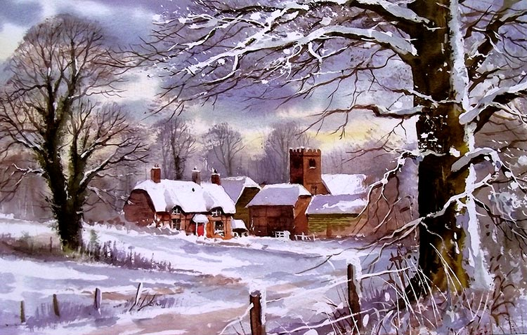 Paisaje de invierno  de Terry Harrison