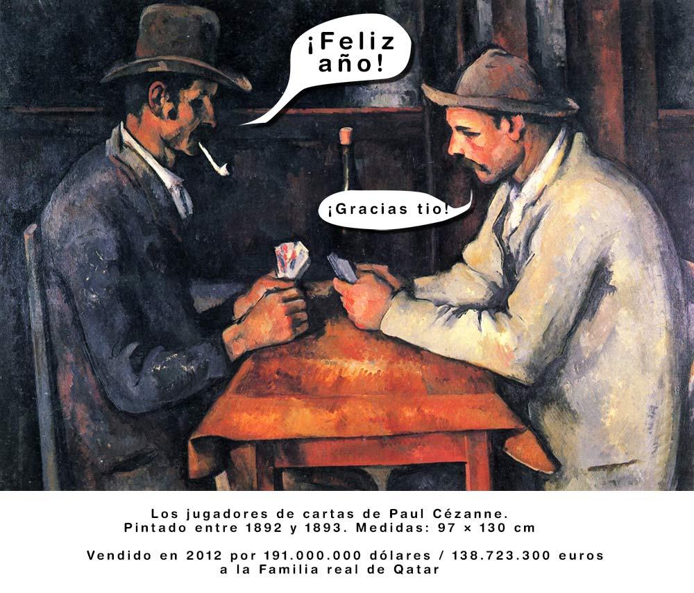 Los jugadores de cartas, de Paul Cezanne