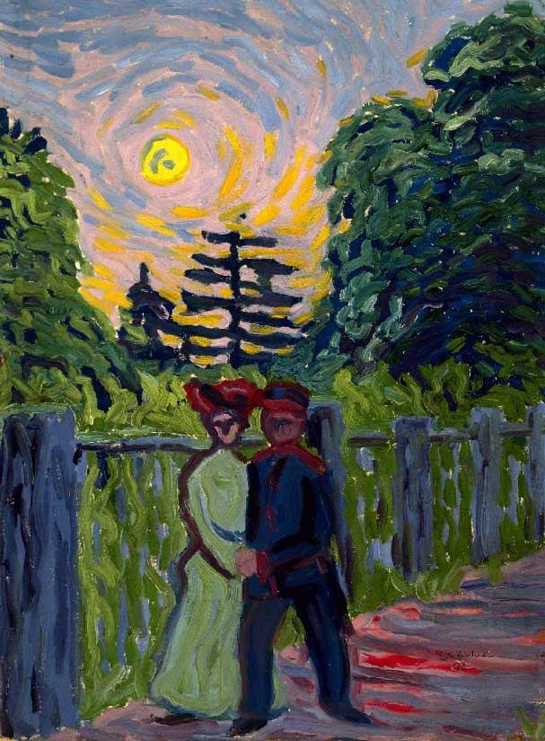 Pinceladas de Ernst Ludwig Kirchner.
