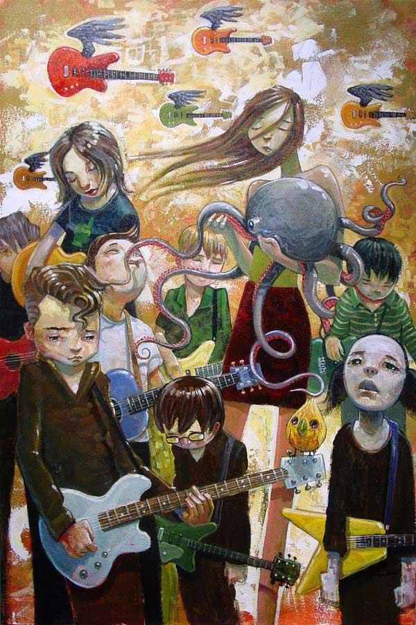 Pintura sobre la música de Jasinski