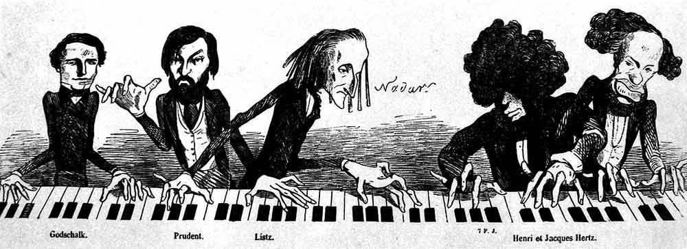 Caricatura con Liszt