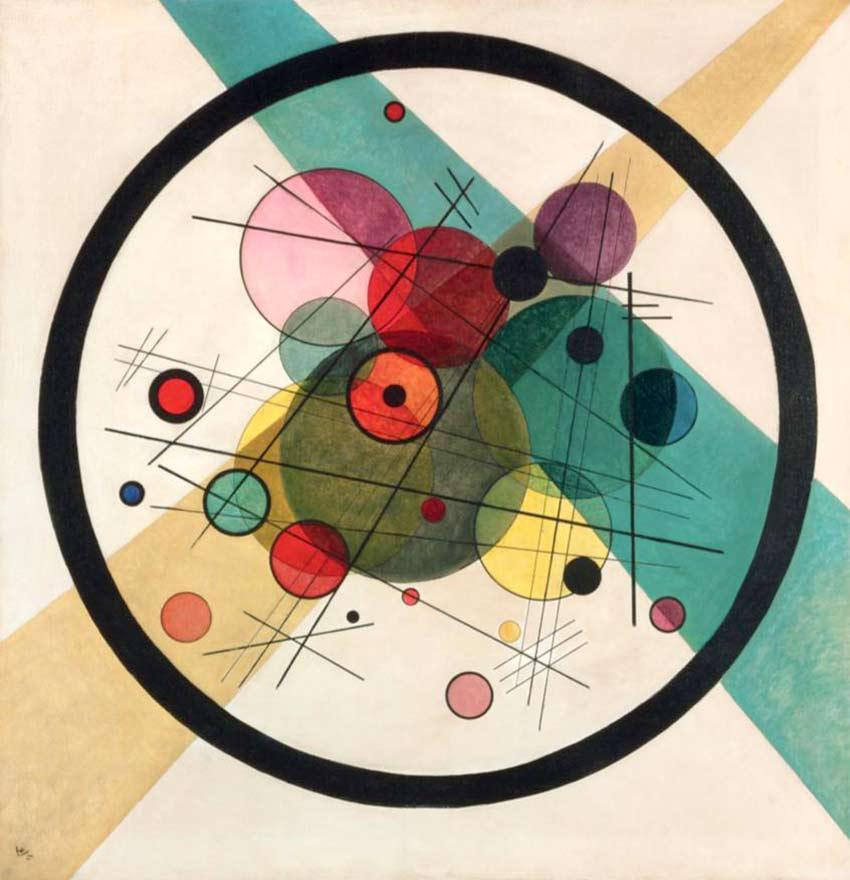 Círculos dentro de un círculo, de Kandinsky