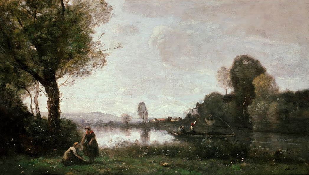 El Sena en Chatou, de Jean-Baptiste Camille Corot