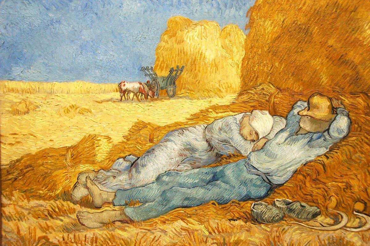 La siesta, de Vincent Van Gogh