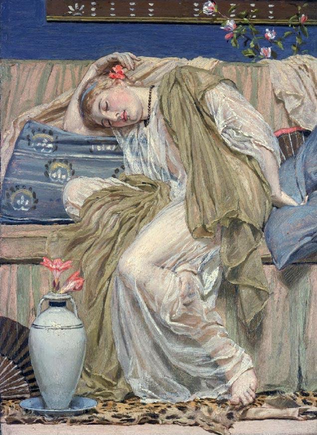 Una chica durmiendo, de Albert Moore