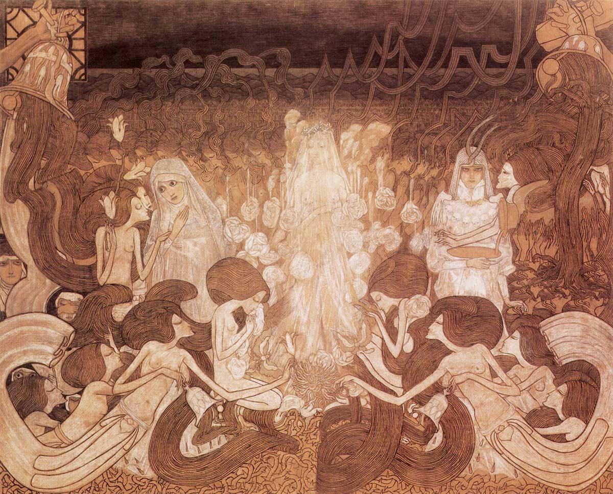 Jan Toorop, Las tres novias, 1893